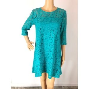 Wrangler Floral Lace Turquoise Dress Size XL NWT